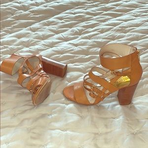 Michael Kors Camel colored booties